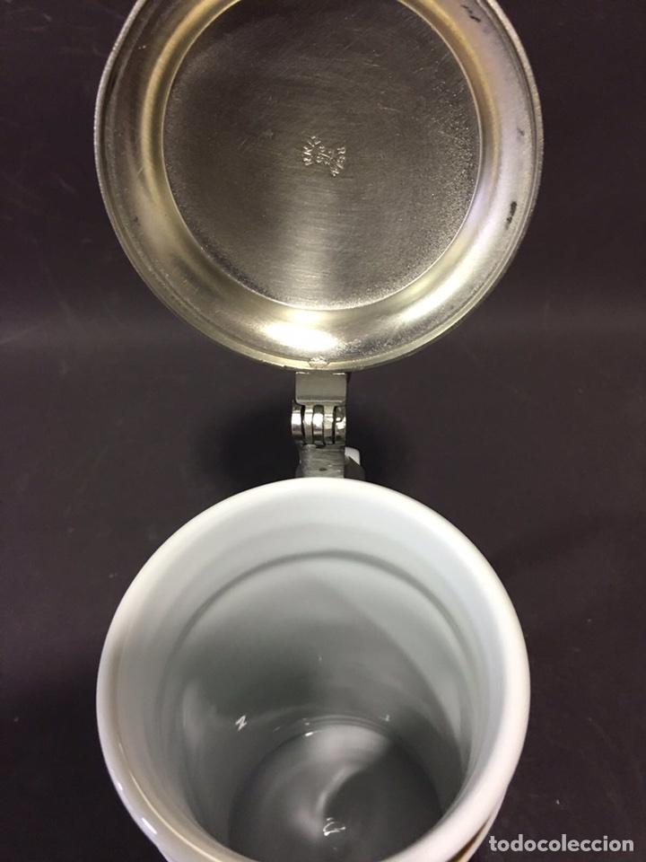 Antigüedades: Jarra de cerveza en porcelana alemana-Bavaria (numerada y sellada) - Foto 5 - 86423336