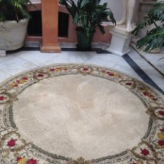 Antigüedades: ALFOMBRA DE LANA REDONDA. Lote 86424416