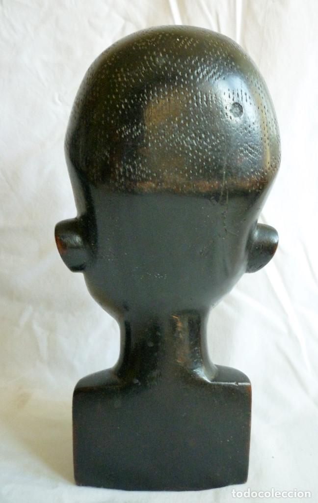 Antigüedades: DOS ESCULTURAS DE ÉBANO HOMBRE Y MUJER CON GRAN DETALLE 21 CMS. ALTURA - Foto 4 - 86429376