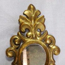 Antiquitäten - ESPEJO CORNUCOPIA DE MADERA TALLADA Y DORADA - 86433088
