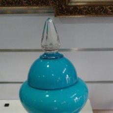Antigüedades - Gran Copa de cristal y opalina azul. - 86441559