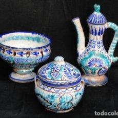 Antiquités: CONJUNTO DE CERÁMICA O PORCELANA PARA SERVIR EL TÉ. TURCO O MARROQUÍ.. Lote 86446600