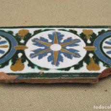Antigüedades: AZULEJO ANTIGUO DE TOLEDO - ARISTA O CUENCA - RENACIMIENTO - SIGLO XVI.. Lote 86450092