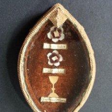 Antigüedades: ANTIGUA CAJITA RELICARIO CON TRES RELIQUIAS EN SU INTERIOR. SIGLO XIX . Lote 86450744