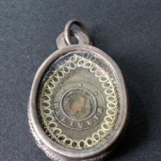 Antigüedades: ANTIGUA CAJA RELICARIO EN PLATA SIGLO XVIII. Lote 86454312