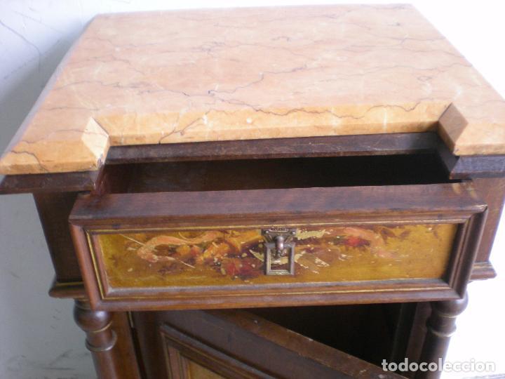 Antigüedades: ANTIGUA MESILLA DE NOCHE - Foto 3 - 86455320