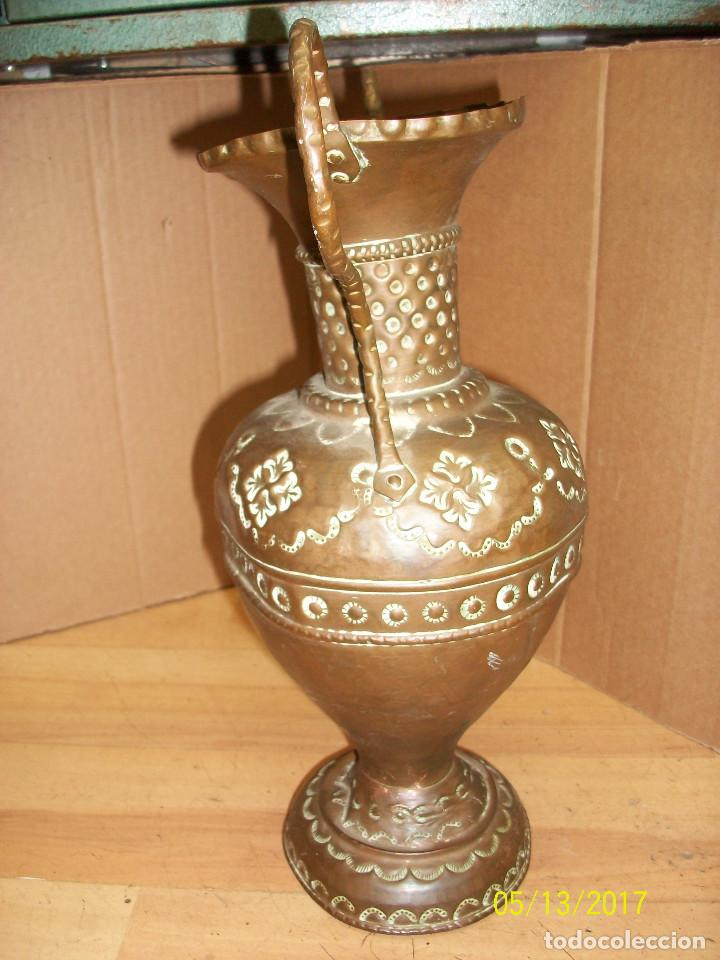 Antigüedades: ANTIGUO FLORERO DE COBRE - Foto 2 - 86463772
