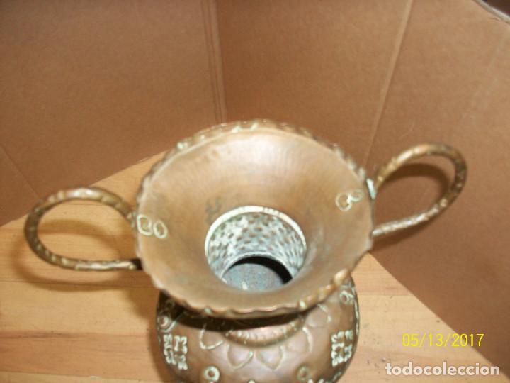 Antigüedades: ANTIGUO FLORERO DE COBRE - Foto 4 - 86463772
