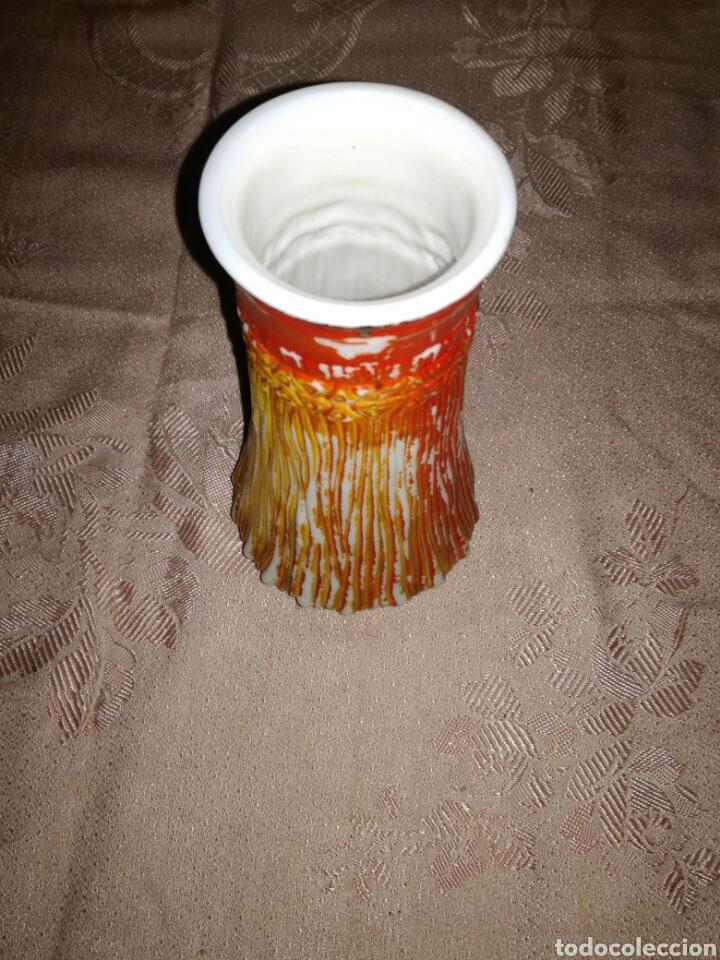 Antigüedades: Jarrón de cristal blanco Opalina - Foto 2 - 86471059