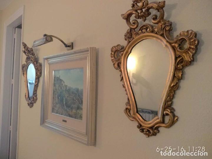 Antigüedades: Espejos Cornucopias pan de oro - Foto 3 - 86479024