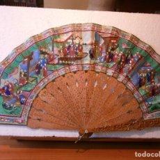Antigüedades: ABANICO CHINO, MIL CARAS. Lote 86494240