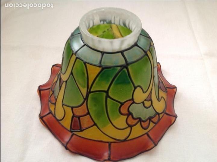 pantalla de lampara de cristal de colores Comprar Objetos Cristal