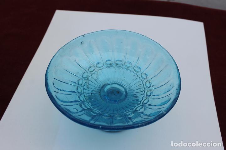 Antigüedades: ANTIGUO DE FRUTERO AZUL DE SANTA LUCIA, CARTAGENA, CRISTAL PRENSADO - Foto 3 - 86514220