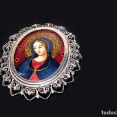 Antigüedades: CAMAFEO DE PLATA PINTADO A MANO, S.XIX. Lote 86515088