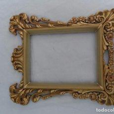Antigüedades: ANTIGUO MARCO AÑOS PAN DE ORO FALSO ESTILO CORNUCOPIA. Lote 86541136