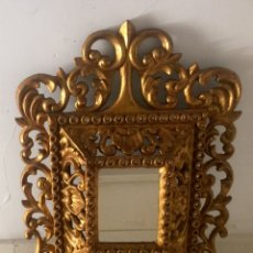 Antiquitäten - Marco con espejo tallado en madera y dorado, finales del Siglo XIX-principios Siglo XX. - 86545982