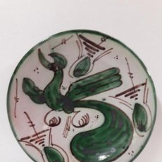 Antigüedades: PLATO EN CERAMICA . SELLADO D. P. / TERUEL . DIAMETRO 18,3 CM. Lote 86557856