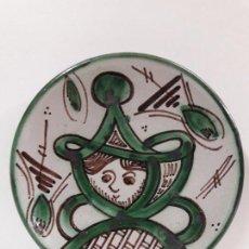 Antigüedades: PLATO EN CERAMICA . SELLADO D. P. / TERUEL . DIAMETRO 18,3 CM. Lote 86557916