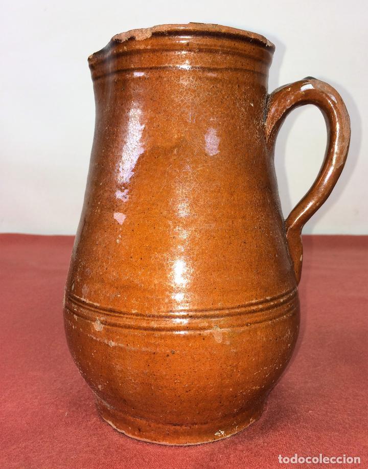 JARRA. CERÁMICA ESMALTADA. CATALUNYA. ESPAÑA. SIGLO XIX (Antigüedades - Porcelanas y Cerámicas - La Bisbal)