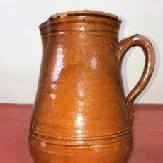 Antigüedades: JARRA. CERÁMICA ESMALTADA. CATALUNYA. ESPAÑA. SIGLO XIX. Lote 86560020