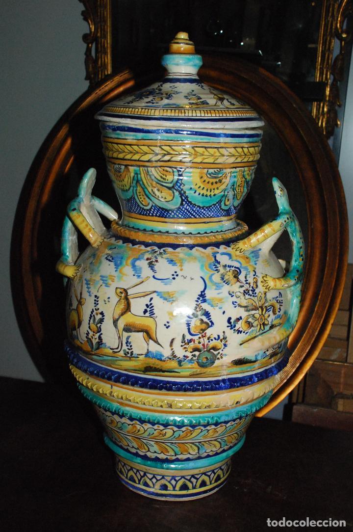 Antigüedades: ESPECTACULAR CENTRO ANTIGUO DE CERÁMICA TRIANA - Foto 2 - 86616616