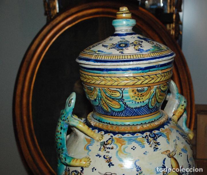 Antigüedades: ESPECTACULAR CENTRO ANTIGUO DE CERÁMICA TRIANA - Foto 4 - 86616616