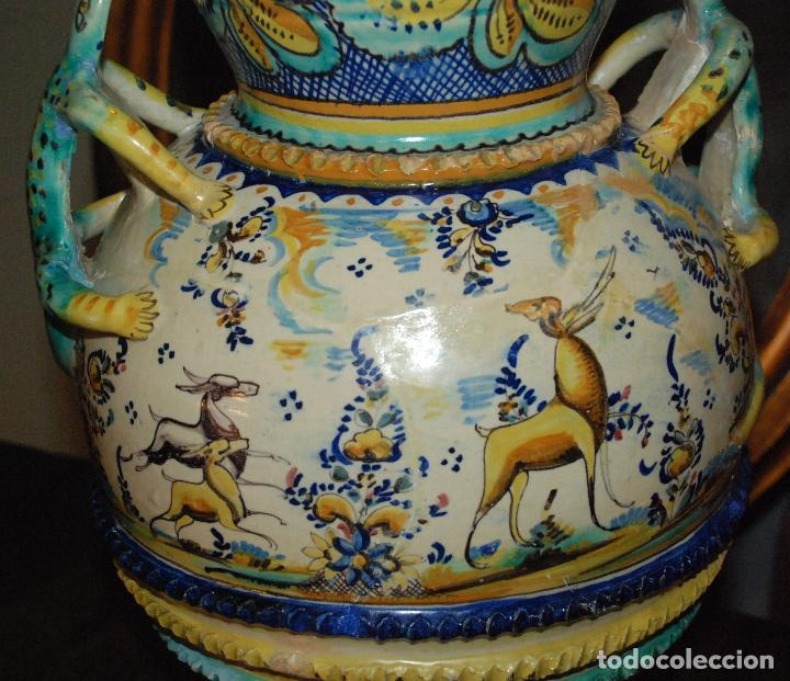 Antigüedades: ESPECTACULAR CENTRO ANTIGUO DE CERÁMICA TRIANA - Foto 8 - 86616616