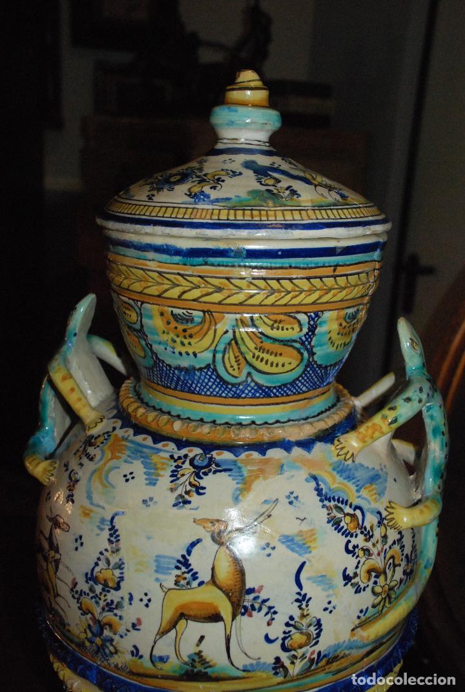 Antigüedades: ESPECTACULAR CENTRO ANTIGUO DE CERÁMICA TRIANA - Foto 10 - 86616616