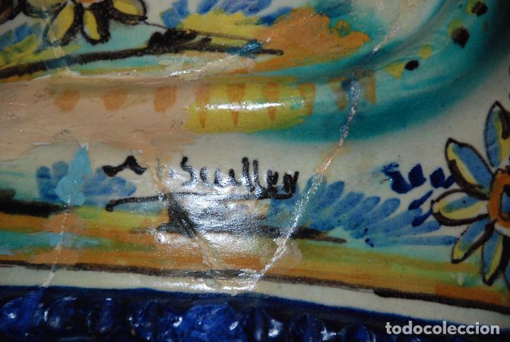 Antigüedades: ESPECTACULAR CENTRO ANTIGUO DE CERÁMICA TRIANA - Foto 17 - 86616616