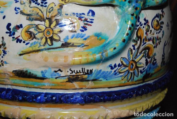 Antigüedades: ESPECTACULAR CENTRO ANTIGUO DE CERÁMICA TRIANA - Foto 19 - 86616616