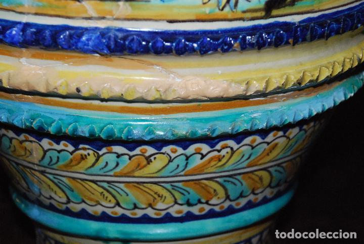 Antigüedades: ESPECTACULAR CENTRO ANTIGUO DE CERÁMICA TRIANA - Foto 21 - 86616616
