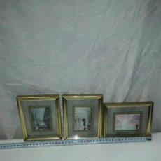 Antigüedades: LOTE DE 3 CUADROS DECORATIVOS EN MINIATURAS. Lote 86616840