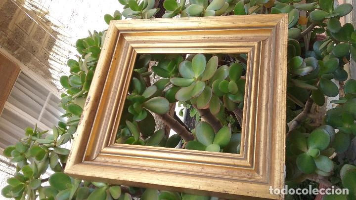 Antigüedades: precioso antiguo marco madera doradAa 27 x 25 x 3,5 CM , - Foto 3 - 86630804
