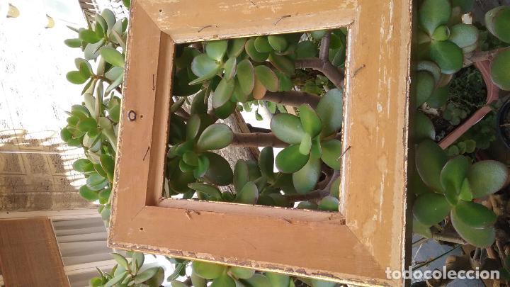 Antigüedades: precioso antiguo marco madera doradAa 27 x 25 x 3,5 CM , - Foto 4 - 86630804