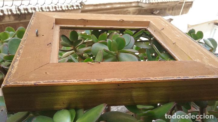 Antigüedades: precioso antiguo marco madera doradAa 27 x 25 x 3,5 CM , - Foto 5 - 86630804
