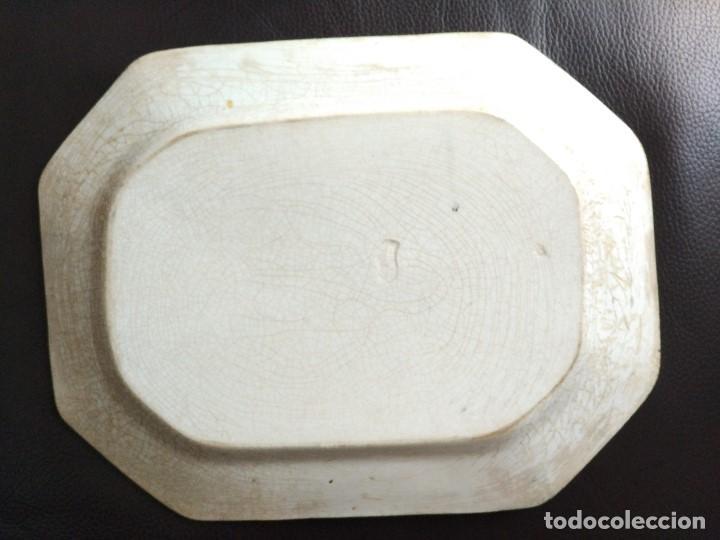 Antigüedades: BANDEJA CARTAGENA 35 X 27 ESCENA DE CAZA - Foto 2 - 86632916