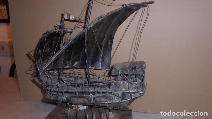 Antigüedades: (M) ANTIGUA CARABELA REALIZADA EN PLATA DE LEY - 38X40 CM. - VER FOTOGRAFIAS - Foto 2 - 86644836