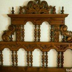 Antigüedades: CABECERO ANTIGUO ESTILO CASTELLANO. Lote 86666064