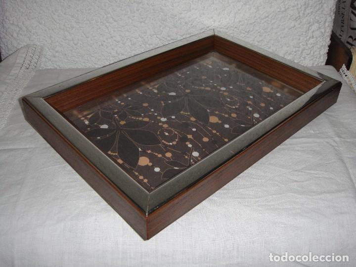 Antigüedades: Expositor Vitrina de Pared. Ideal para Exponer Colecciones. Marco con baño de Plata. - Foto 2 - 86718064