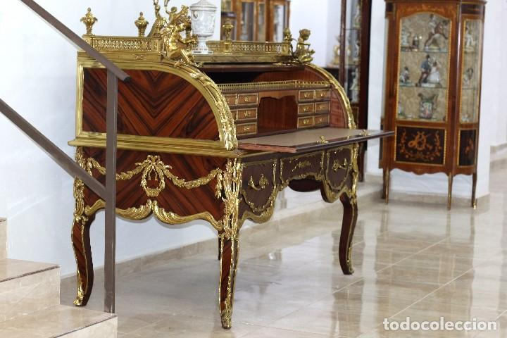 Antigüedades: Escritorio Bureau estilo Luis XV - Foto 5 - 88319640