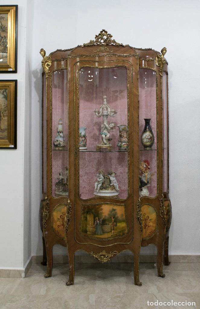 Vitrina estilo luis xv comprar vitrinas antiguas en for Muebles luis xv segunda mano