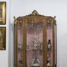 Antigüedades: VITRINA ESTILO LUIS XV. Lote 86742804