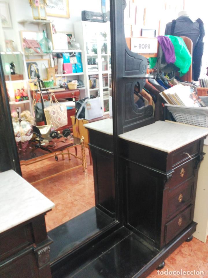 Antigüedades: Dormitorio antiguo en color negro COMPLETO - Foto 11 - 68145389