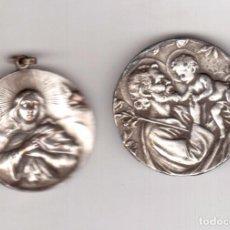Antigüedades: DOS MEDALLAS LAS QUE VES NO SON DE PLATA . Lote 86755704