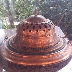Antigüedades: BRASERO DEN LATON , PRECIOSO. Lote 86827120
