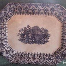 Antigüedades: ANTIGUA BANDEJA DE CARTAGENA , SELLO INCISO Y TINTA, . Lote 86827364