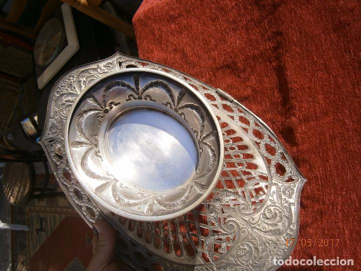 Antigüedades: Precioso frutero modernista plateado - Foto 2 - 86828772