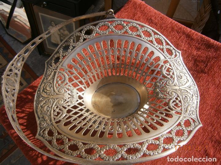 Antigüedades: Precioso frutero modernista plateado - Foto 3 - 86828772