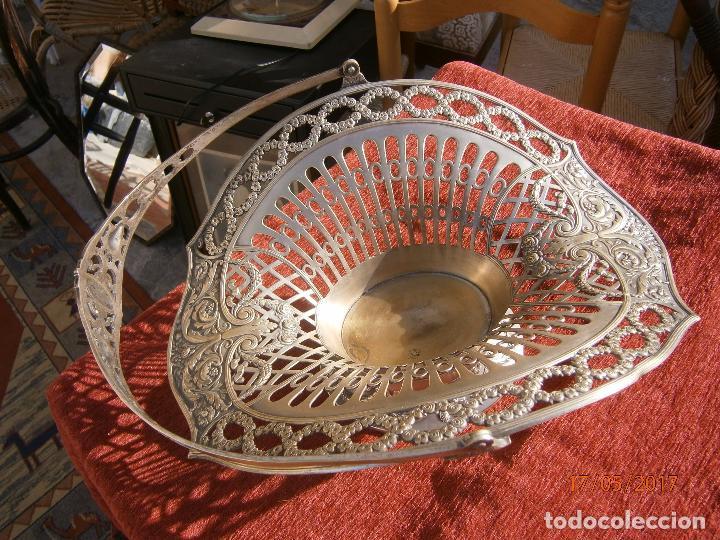 Antigüedades: Precioso frutero modernista plateado - Foto 4 - 86828772