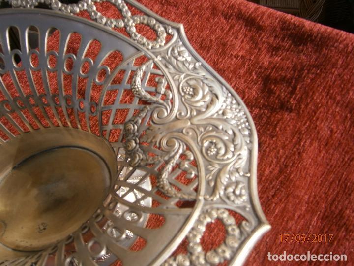 Antigüedades: Precioso frutero modernista plateado - Foto 5 - 86828772